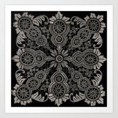 Victorian Monochrome Art Print