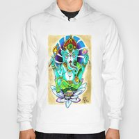 ganesh Hoodies featuring Ganesh by Lady Noire