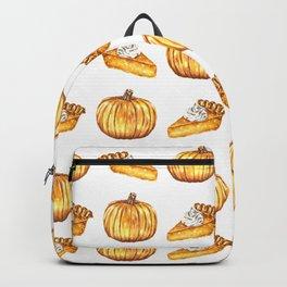 Pumpkin Pie Pattern Fall Watercolor Backpack