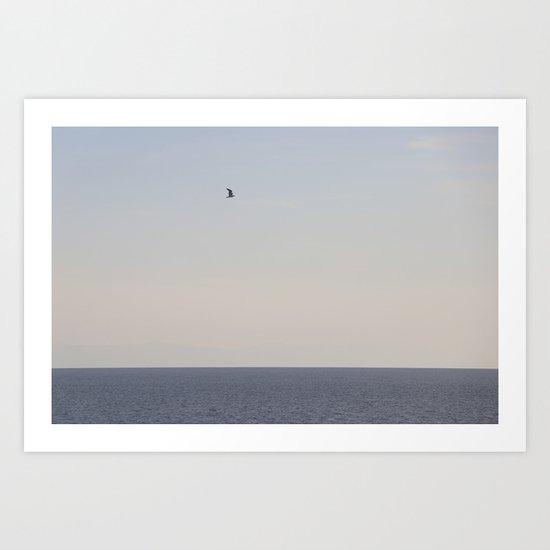 bird and sea Art Print