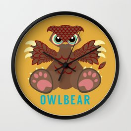 Owlbear! Wall Clock