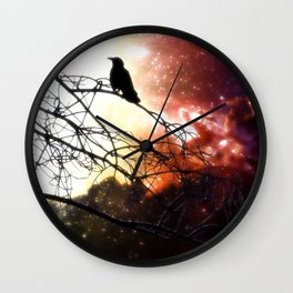 Cosmic Blackbird Wall Clock