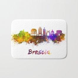 Brescia skyline in watercolor Bath Mat