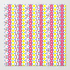 Pattern Blue & Pink Canvas Print