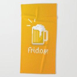 Pixel Friday Beach Towel