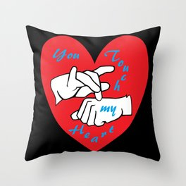 ASL You Touch My Heart! Throw Pillow
