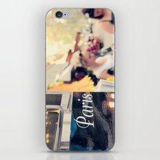 Paris street scene iPhone & iPod Skin