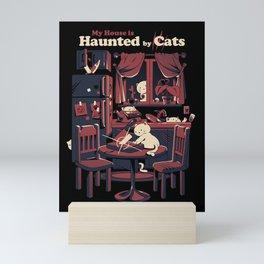Haunted by cats Mini Art Print