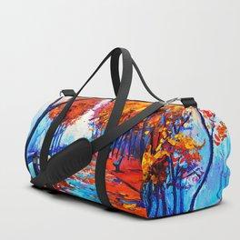 Tardis Art Tree Blossom Duffle Bag