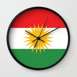 Flag of Kurdistan Wall Clock