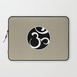 Stylized OM Syllable Mandala Laptop Sleeve