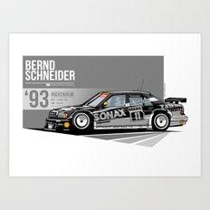 Bernd Schneider - 1993 Hockenheim Art Print