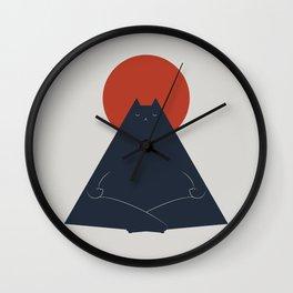 Cat Landscape 63: Meow-ditation Wall Clock