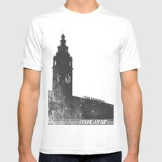 The Ferry Building MEDIUM White Mens Fitted Tee