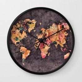 world map 68 Wall Clock