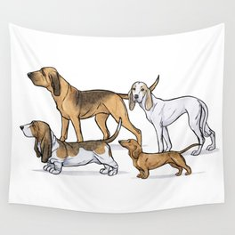 Nosy Scenthounds Wall Tapestry