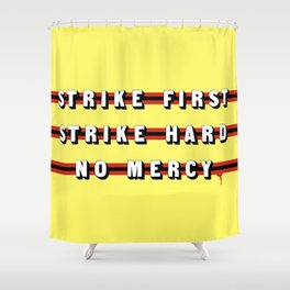 Cobra Kai (Rule of Threes) Shower Curtain