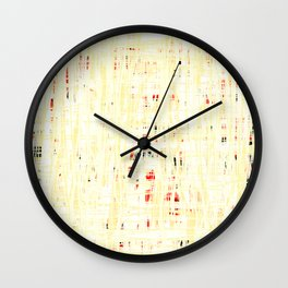20190221 White Grid Coral No. 3 Wall Clock