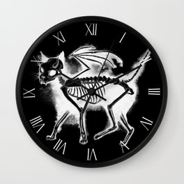Devil Kitty - inverted Wall Clock