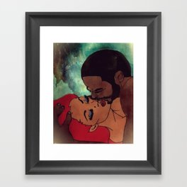 Black Love Lives On Framed Art Print