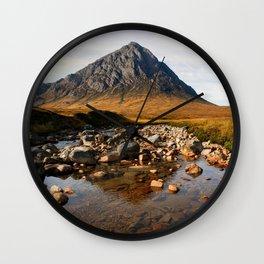 Buchaille Etive Mor Mountan Glencoe Scotland Wall Clock
