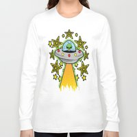 outer space Long Sleeve T-shirts featuring OUTER SPACE by Amber's Realm