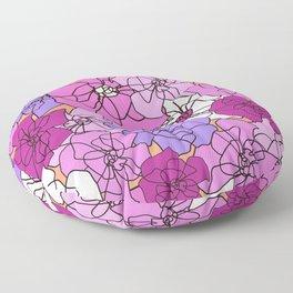 Summer Peony Garden Floor Pillow