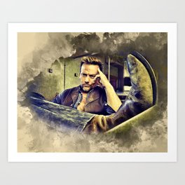 Flanery and his Cowboy Boot Art Print