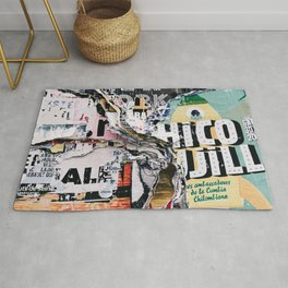 Torn mexican posters wall Rug