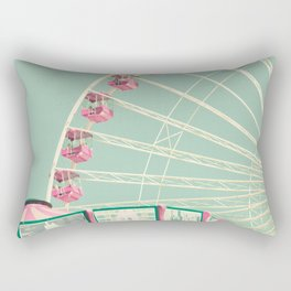 Pink and mint nursery composition Rectangular Pillow