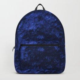 Royal blue navy velvet Backpack