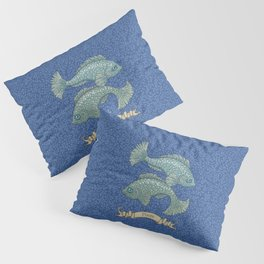 Vintage Astrology - Pisces Pillow Sham