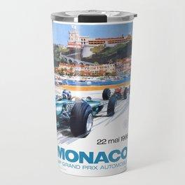 1966 MONACO Grand Prix Racing Poster Travel Mug