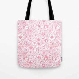 Pink , fishnet , lace Tote Bag