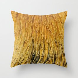 Fancy Rooster Feathers Throw Pillow