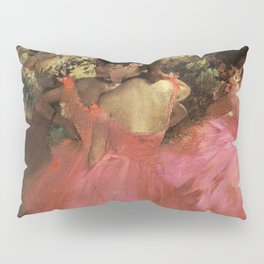 Dancers In Pink 1885 By Edgar Degas | Reproduction | Famous French Painter Pillow Sham