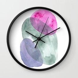 watercolor abstract rocks Wall Clock