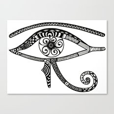 Eye of Horus Tangled Canvas Print