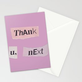 thank you next - Ariana - pink Stationery Cards