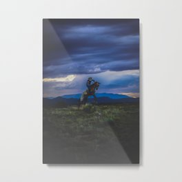 Bucking Horse in Santa Fe Metal Print
