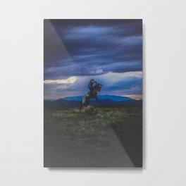 Bucking Horse in Santa Fe Metal Print
