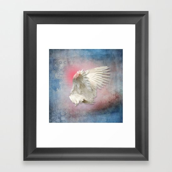 Lost Angel Wing Framed Art Print