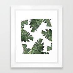 Banana Leaf Frenzy #society6 Framed Art Print