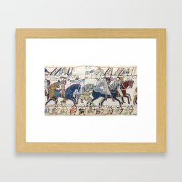 """""""Section of the Bayeux Tapestry (Ghosts)"""" Framed Art Print"""