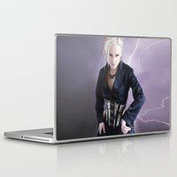 steam punk Laptop & iPad Skins featuring steam punk and lightning by SBImagery