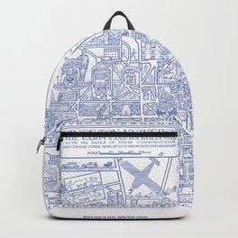 PRINCETON university map NEW JERSEY dorm decor Backpack