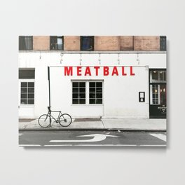 Meatball Shop NYC Metal Print