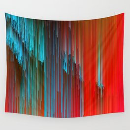 California Dreamin' - Abstract Glitch Pixel Art Wall Tapestry
