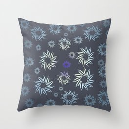 Multicolored flowers with neutral background in pastel colors. Throw Pillow