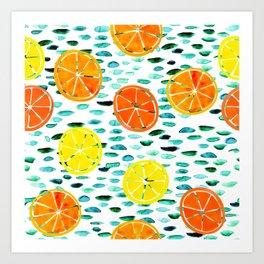 Citrus Lily (white) Art Print
